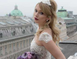 Destination Wedding Planner Vienna with bride on rooftop
