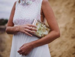 girl with clutch and flowers