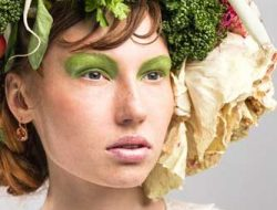 Floral Fashion Editorial with fresh floral accessories