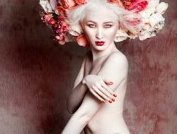 Floral Fashion Editorial with model and roses
