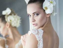 Floral Fashion Editorial with model and flowers made by a luxury wedding florist in london