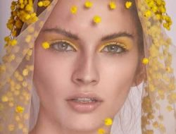Floral Fashion Editorial with floral veil