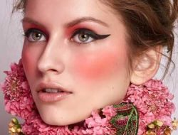 Floral Fashion Editorial with floral collar