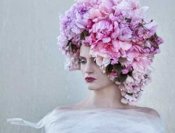 BOLTE Luxury Event Design styling with model and cherry blossom flower crown