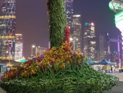 Flower Art installation for luxury event in Guangzhou china