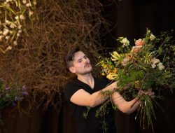 Luxury Event Florist London in action on stage