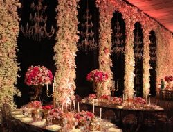 flower walls and chandeliers for Luxury Wedding Planner dubai