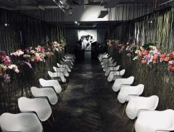 Luxury party planner london- fashion event with flower walls
