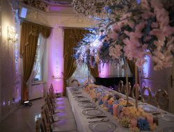 Luxury private party planner in riyadh- dinner table