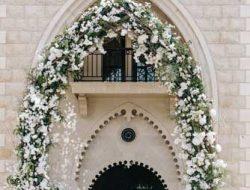 Flower arch at Lebanese destination wedding