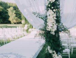 flower arch for luxury austrian outdoor wedding