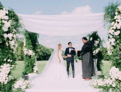 luxury white floral wedding tent from london florist