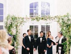 luxury event florist london for gay jewish wedding with chuppah
