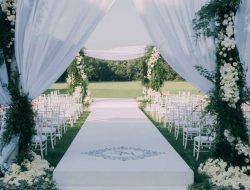 luxury white floral arch for event in london