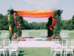 luxury event florist london with indian wedding mandap