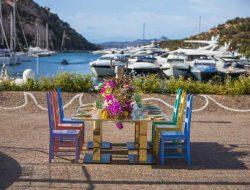 luxury private events table setting in poltu quatu yacht club