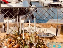 private dinner party in Poltu Quatu yacht club