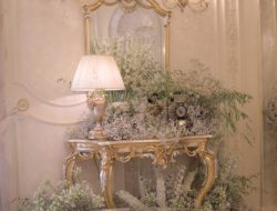 luxury private party planner with white flower decoration in baroque room