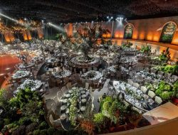 luxury wedding with trees planned by Wedding planner france